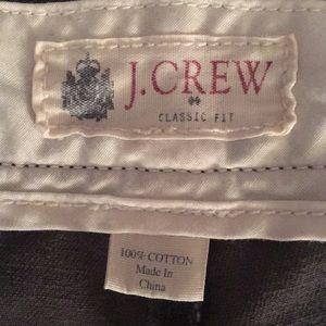 Classic Fit gray khakis